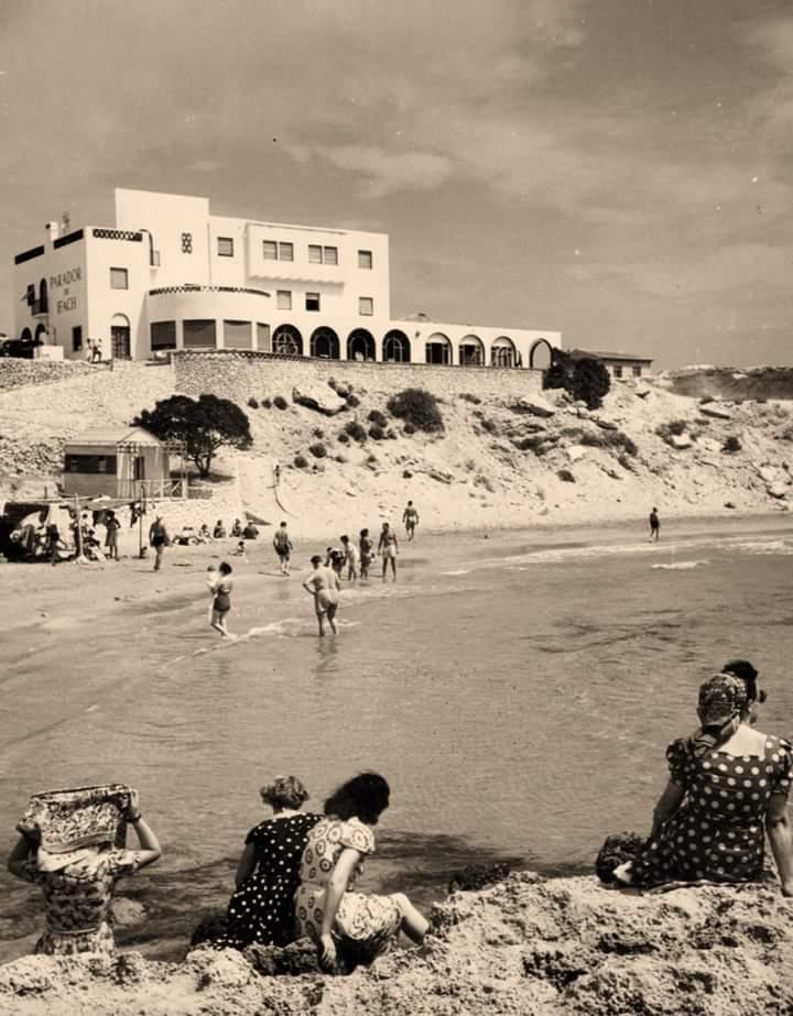La playa en 1960