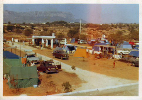 El camping en 1960